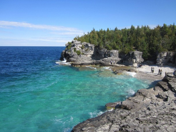 No its not the caribbean its lake huron the overlook bruce trail no its not the caribbean its lake huron the overlook bruce trail ontario canada sciox Gallery