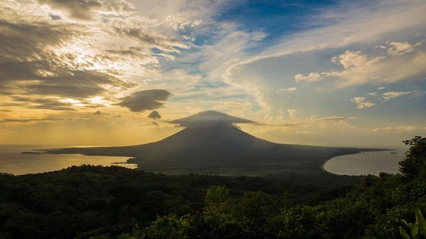 Northern Europe is getting too much attention Reddit have some Nicaragua Volcano Concepcion seen from Volcano Maderas Island of Ometepe Nicaragua x-post EarthPorn