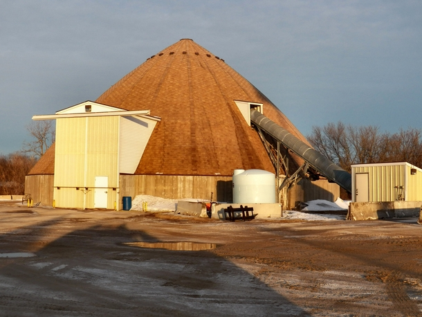 Not very glamorous but very functional A road salt storage building near Madison WI