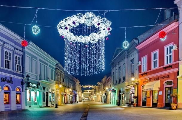 novi sad serbia at christmas time photorator. Black Bedroom Furniture Sets. Home Design Ideas