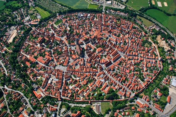 Nrdlingen Germany built in a  million year old meteor impact crater