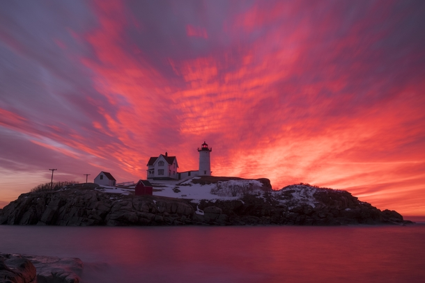 Nubble Lighthouse Sunrise Just Minutes After Arriving