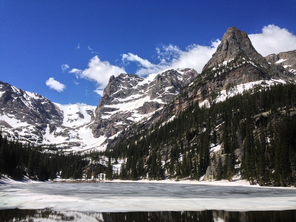 Odessa Lake and the Little Matterhorn in Rocky Mountain National Park
