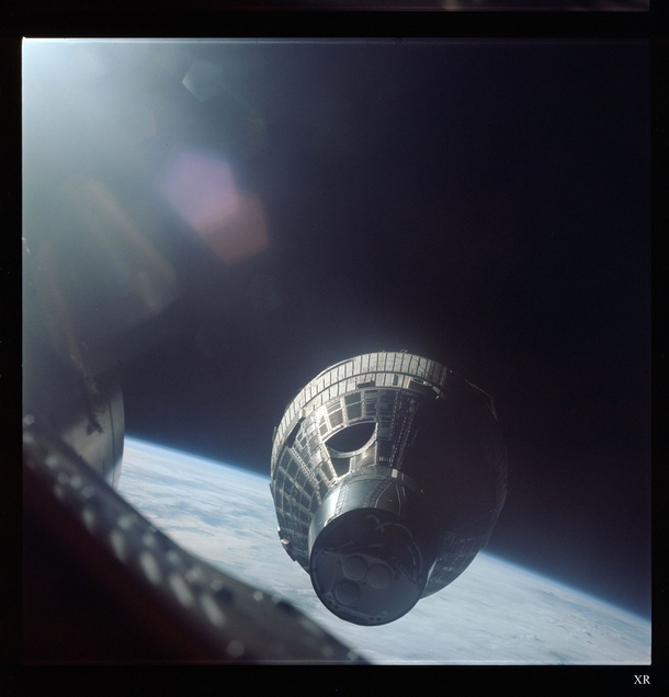 On December   Wally Schirra maneuvered the Gemini  spacecraft within  foot  cm of its sister craft Gemini  The spacecraft were not equipped to dock with each other but maintained station-keeping for more than  minutes