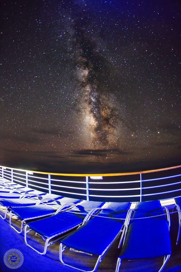 One of the clearest Milky Ways I have ever seen was in the middle of The Atlantic Somehow I convinced the aboard our ship to turn some of the lights off one night so I could capture it