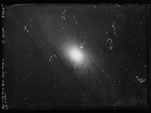 One of the first images of Andromeda galaxy taken by Edwin ...