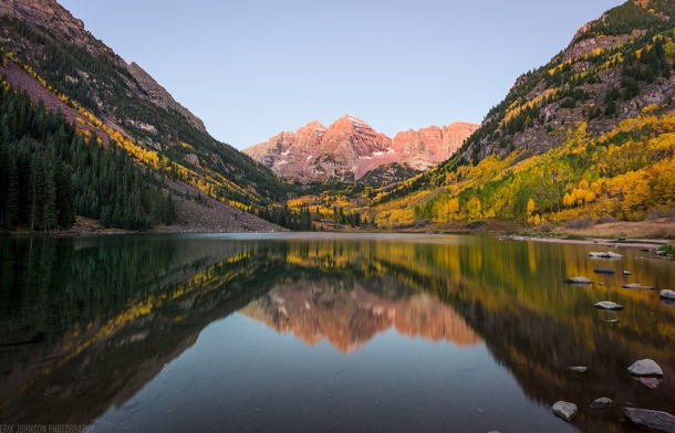 One of the most photographed Fall scenes but it never gets old Maroon Bells CO