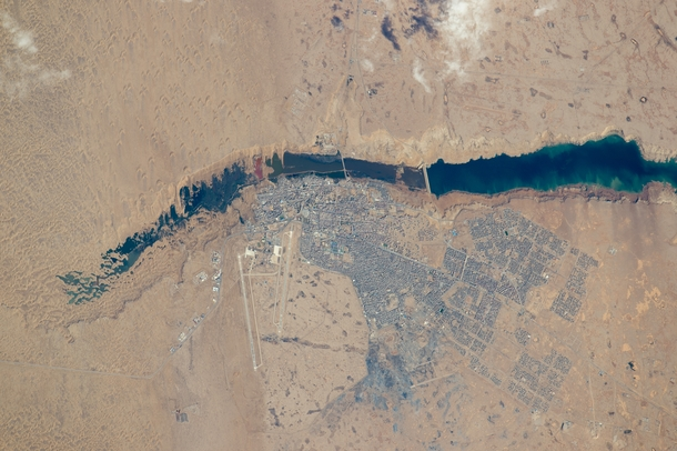 One of the most sparsely populated countries in the world Western Sahara has a population of nearly half a million people nearly  percent of them live in El Aain This photo was taken on  February  with the most powerful lens aboard the International Space