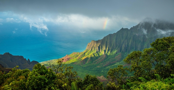 Our view from Kalalau lookout last week in Kauai