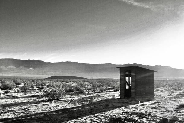 Outhouse Johnson Valley within the Mojave Desert Preserve California