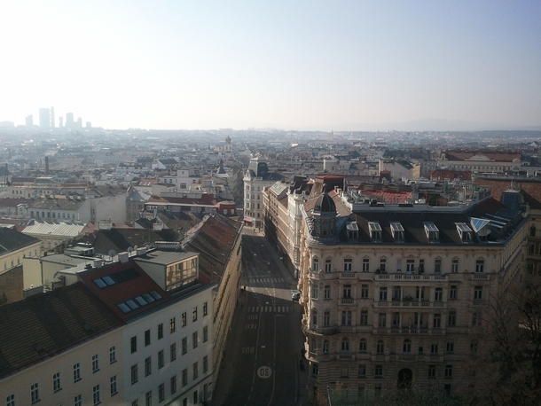 Overlooking the th district of Vienna Austria