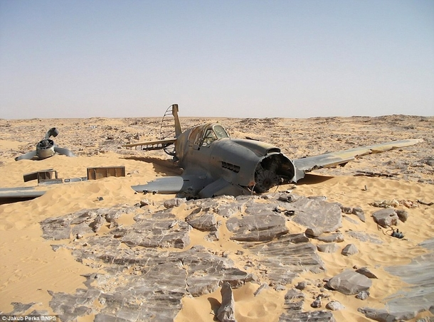 P- Kitty Hawk recently found in Western Saudi Arabia After crashing in  the pilot survived and salvaged what he could His remains have not been found