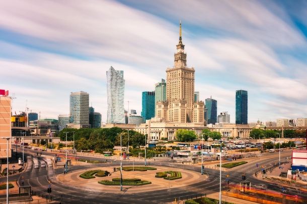 Palace of Culture and Science  Warsaw Poland - Photo Nico Trinkhaus