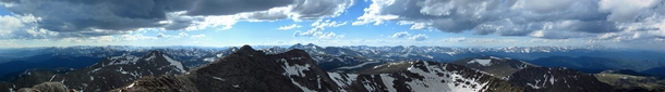 Panorama from the top of Mount Evans