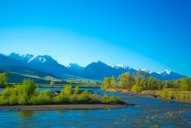 Paradise Valley And The Yellowstone River Near Livingston