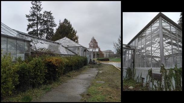 Permanently closed Conservatory on the Washington State Capital grounds