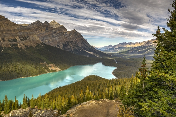 Peyto Lake Alberta Canada  by Corey Yeatman x-post rTrueNorthPictures