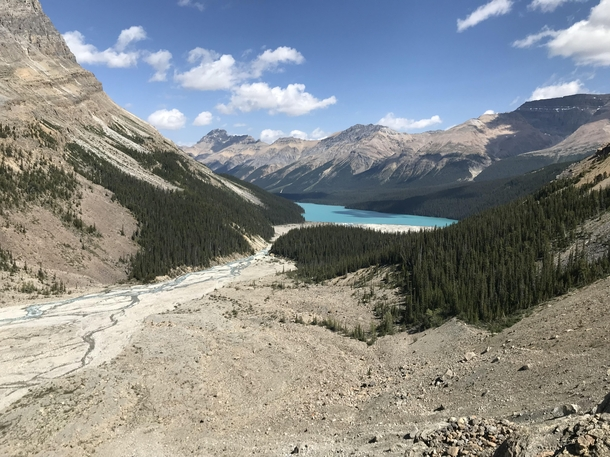 Peyto lake from a different angle Alberta  Canada