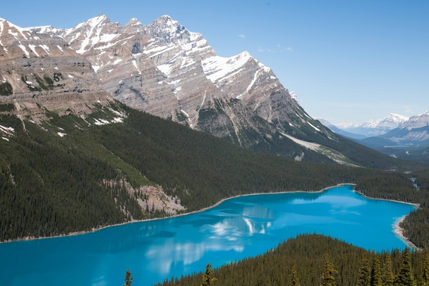 Peyto Lake in Banff National Park Alberta Canada