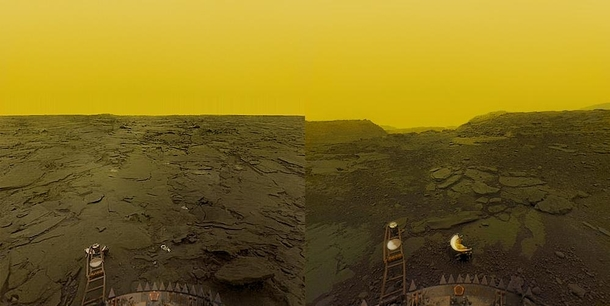 Pictures of the surface of Venus by the soviets in the s