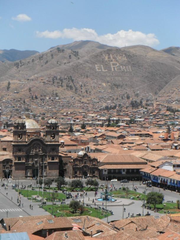 Cusco (cuzco), Inca Capital City, Aerial View Of [la Compania] And ...