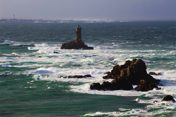 Pointe du Raz during a storm last week Atlantic Ocean France