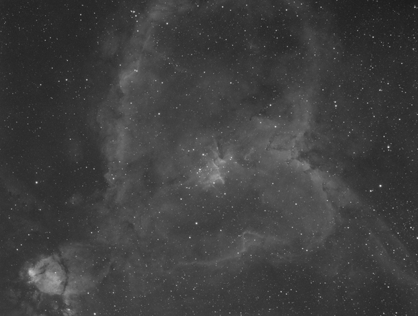 Pointed my telescope and camera at the Heart Nebula and opened the shutter for  hour this is what I got