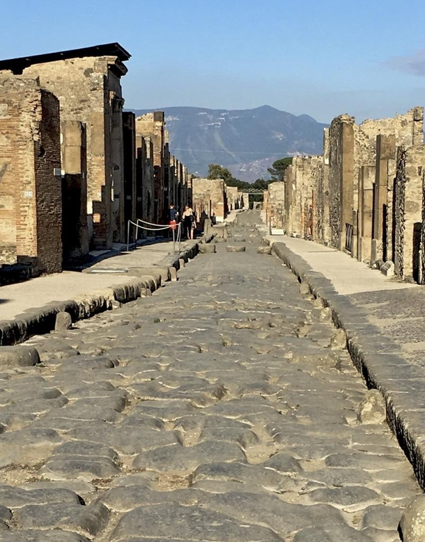Pompeii Italy destroyed by the eruption of Mt Vesuvius in  AD