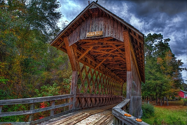 Pooles Covered Bridge Alabama  by William Roberts