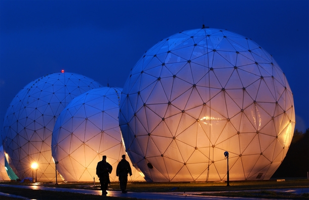 Radomes at the Misawa Security Operations Center Misawa Japan  xpost rTechnologyPorn