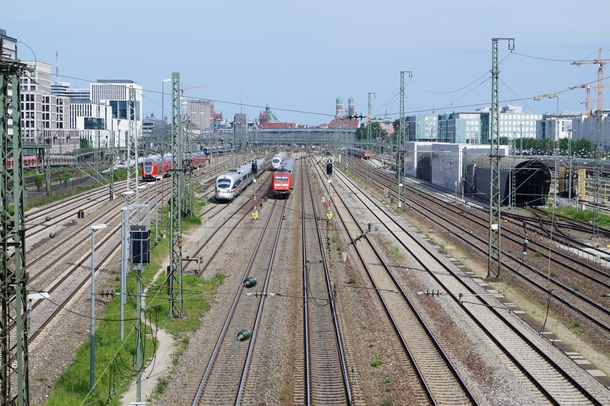 Rails Leading to Munich Central Station