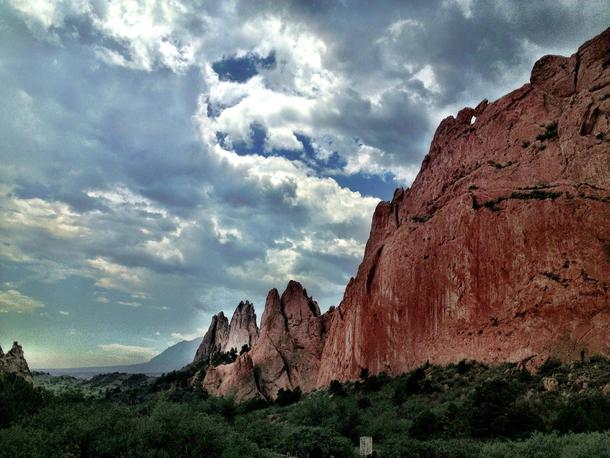 Red Rock Formations At Garden Of The Gods Park In Colorado