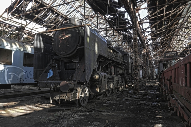 Red Star Train Graveyard in Hungary