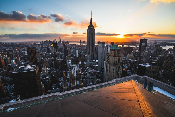 Rooftop View Of Manhattan New York More Of My Work On