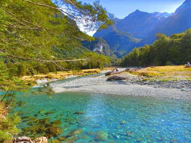 Routeburn River New Zealand