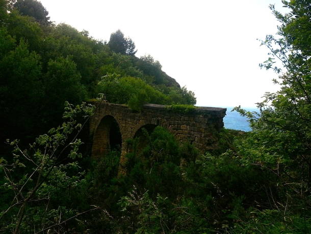 Ruins of an Aqueduct in the Woods - Spain