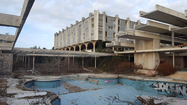 Ruins of Haludovo Palace Hotel a Yugoslavian Penthouse Resort Located on the Adriatic Coast  Album in comments