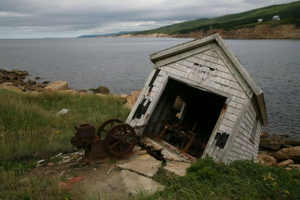 rusty cape breton coastline nova scotia ca