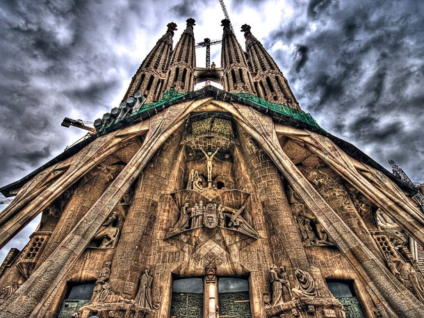 3d088c2837 Sagrada Familia in Barcelona Designed by Antoni Gaudi construction began in  It isnt scheduled to be completed until years after Gaudi died