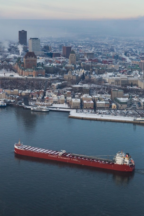 Saint-Lawrence Seaway at Quebec City