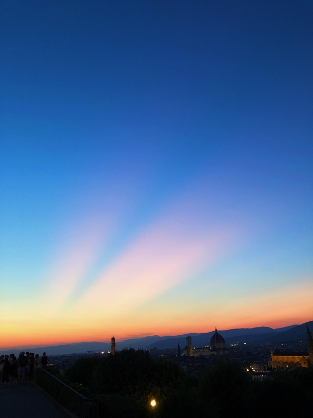 Saw this unreal sunset from Piazza Michelangelo Florence