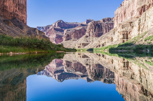 Since reflection shots seem popular right now The Grand Canyon on the Colorado