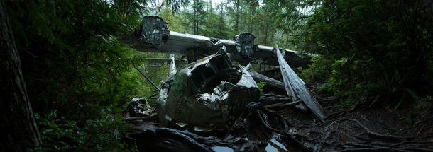 Site of the  crash of a RCAF Canso Bomber plane outside of Tofino BC Canada   By Dan Anthon
