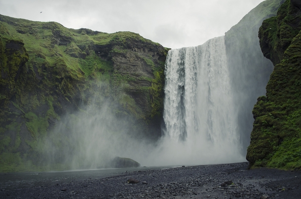 Skogafoss Iceland  Photographed by Laurent Frauli