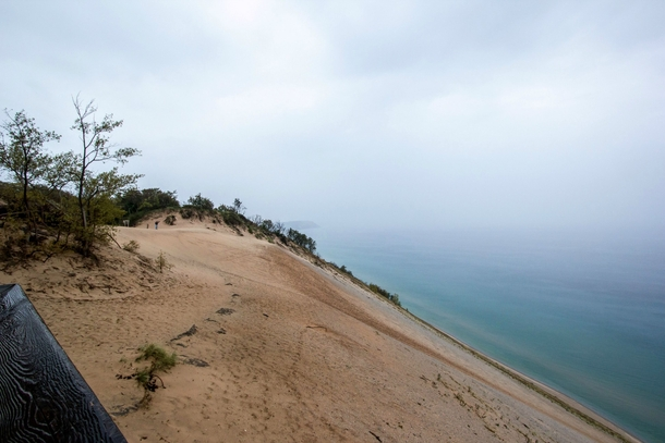 Sleeping bear dunes Empire MI Look at the top left  guy for scale  Picture doesnt do it justice
