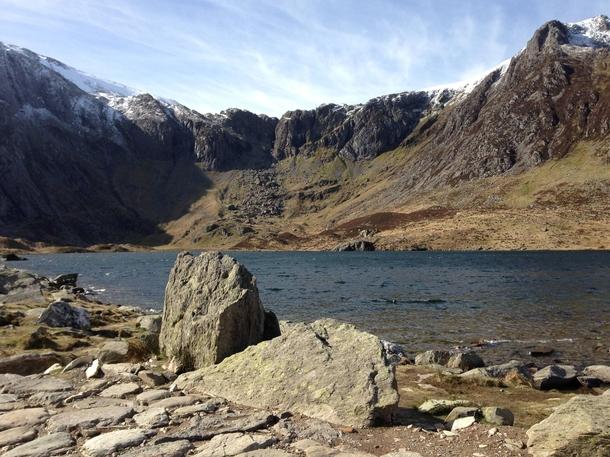 Snowdonia Llyn Idwal Ft Devils Kitchen Wales Walking The