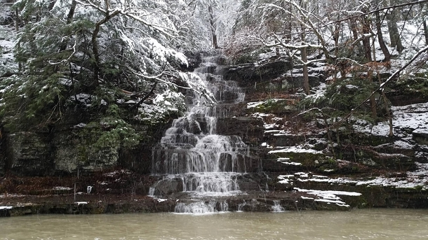 Snowy days are the best for hiking - Six Mile Creek Ithaca Ny