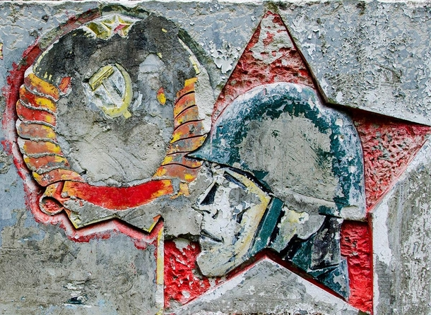 Socialist Soviet-Era Art at an abandoned military village in east germany
