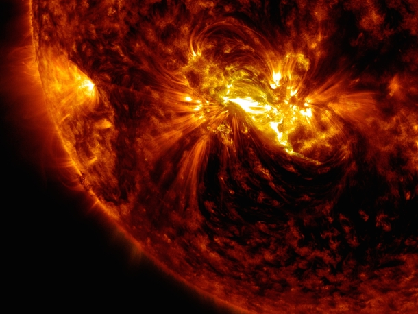 Solar flare as seen by NASAs SDO