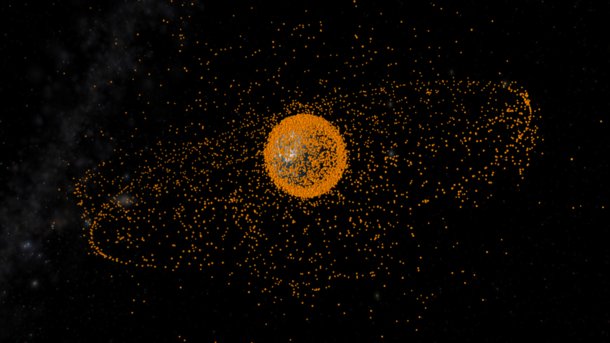 Space Debris Taken by the European Space Agency